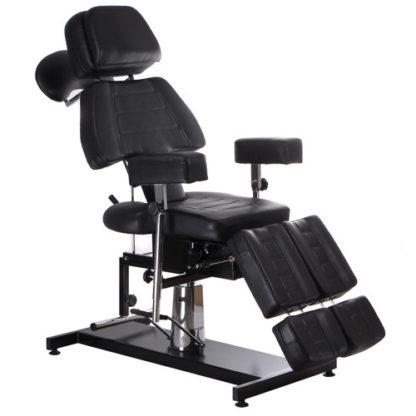 Fotel do tatuażu hydrauliczny C-3603 czarny