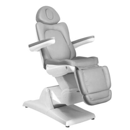 fotel kosmetyczny elektr azzurro 870 3siln szary