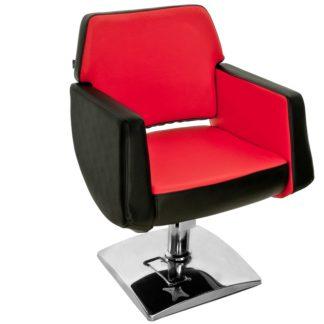 Gabbiano - fotel fryzjerski Q-8810 czarno-czerwony