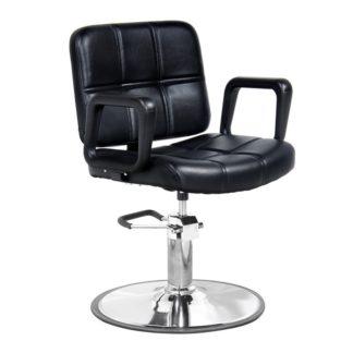 Gabbiano - fotel fryzjerski Praga- czarny