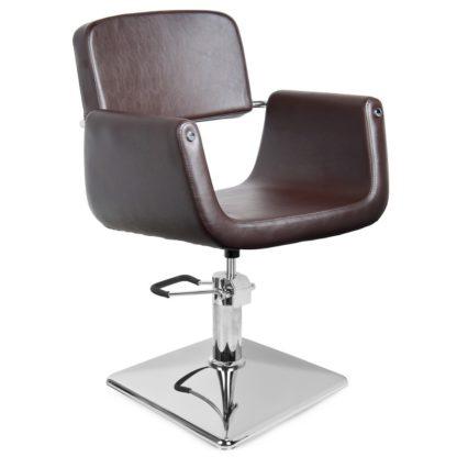 Gabbiano - fotel fryzjerski helsinki - brązowy