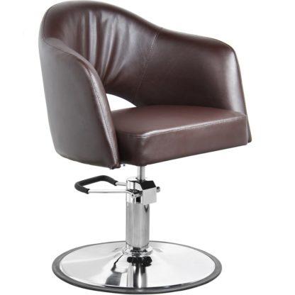 Gabbiano - fotel fryzjerski model Lizbona - brązowy