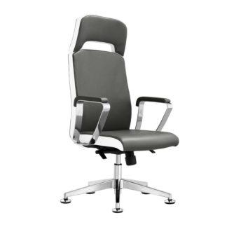 Fotel kosmetyczny Rico A1501-1, szaro-biały