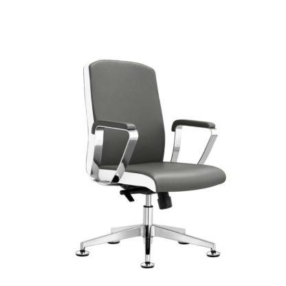 Fotel Rico B1501 - Szaro-biały