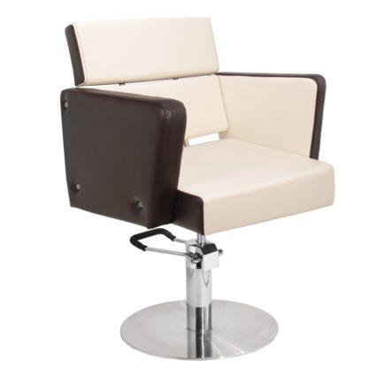 Gabbiano - fotel fryzjerski dublin - brąz-beż