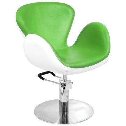 Gabbiano - fotel Amsterdam - biało-zielony