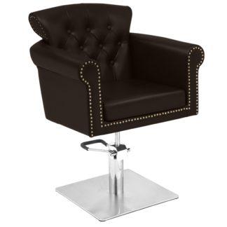 Gabbiano - fotel fryzjerski berlin - brązowy