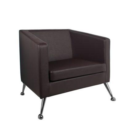Gabbiano - brązowy fotel do poczekalni