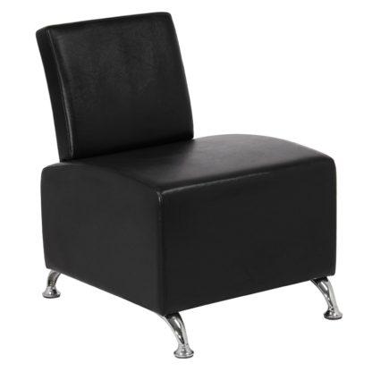 Gabbiano - fotel do poczekalni - czarny