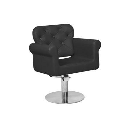 Gabbiano - fotel fryzjerski Wiedeń - Czarny