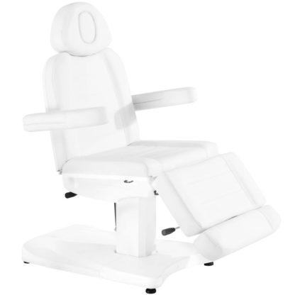 fotel azzurro biały