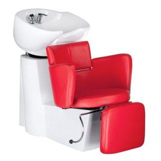 Myjnia fryzjerska LUIGI BR-3542 czerwona