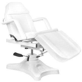 Fotel kosmetyczny hydrauliczny z białą kołyską