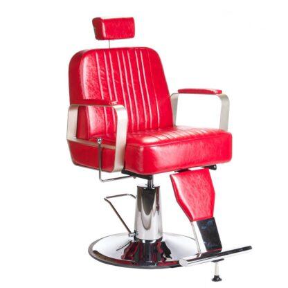 fotel barberski homer bh 31237 czerwony