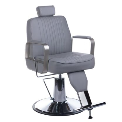 fotel barberski homer bh 31237 jasny szary