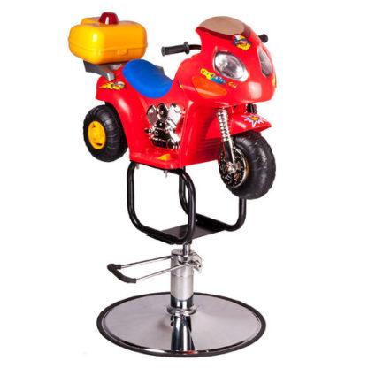 Dziecięcy fotel fryzjerski Moto BW-604 czerwony
