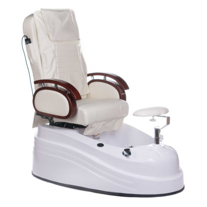 Fotel do pedicure z masażem BR-2307 Kremowy