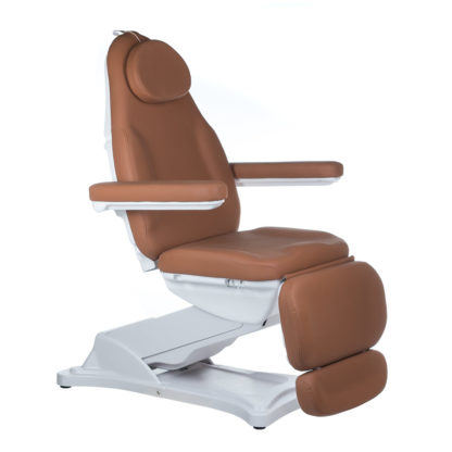 Elektryczny fotel kosmetyczny-MODENA-brązowy