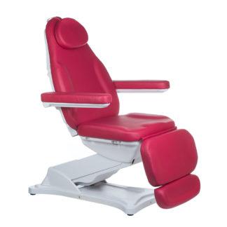 Elektryczny fotel kosmetyczny-MODENA-malinowy