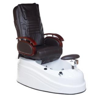 Fotel do pedicure z masażem - brązowy
