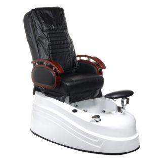 Fotel do pedicure z masażem - czarny