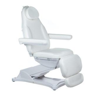 fotel elektryczny kosmetyczny - biały