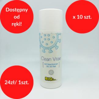 clean vitae żel antybakteryjny do rąk 150 ml x 10