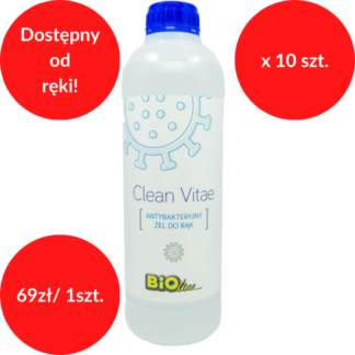 Clean Vitae żel antybakteryjny 1 L