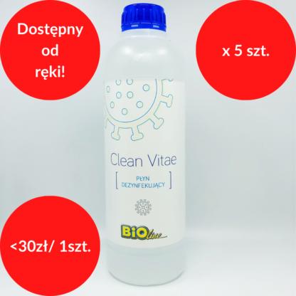 clean vitae żel antybakteryny pakiet 5 x 1L