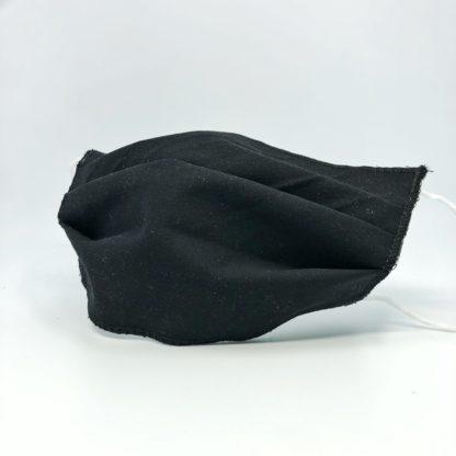 czarna maseczka ochronna bawełniana