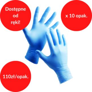rękawiczki nitrylowe pakiet 10 szt