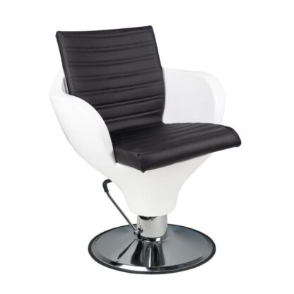 Fotel fryzjerski Ferrara Gabbiano biało czarny
