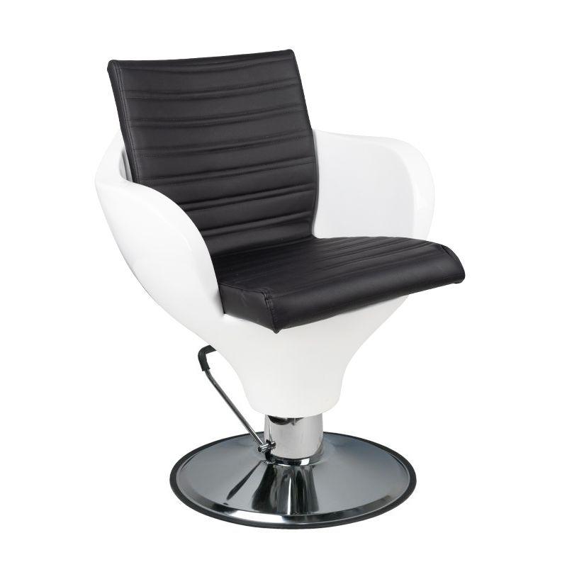 Fotel-fryzjerski-Ferrara-Gabbiano-biało-czarny