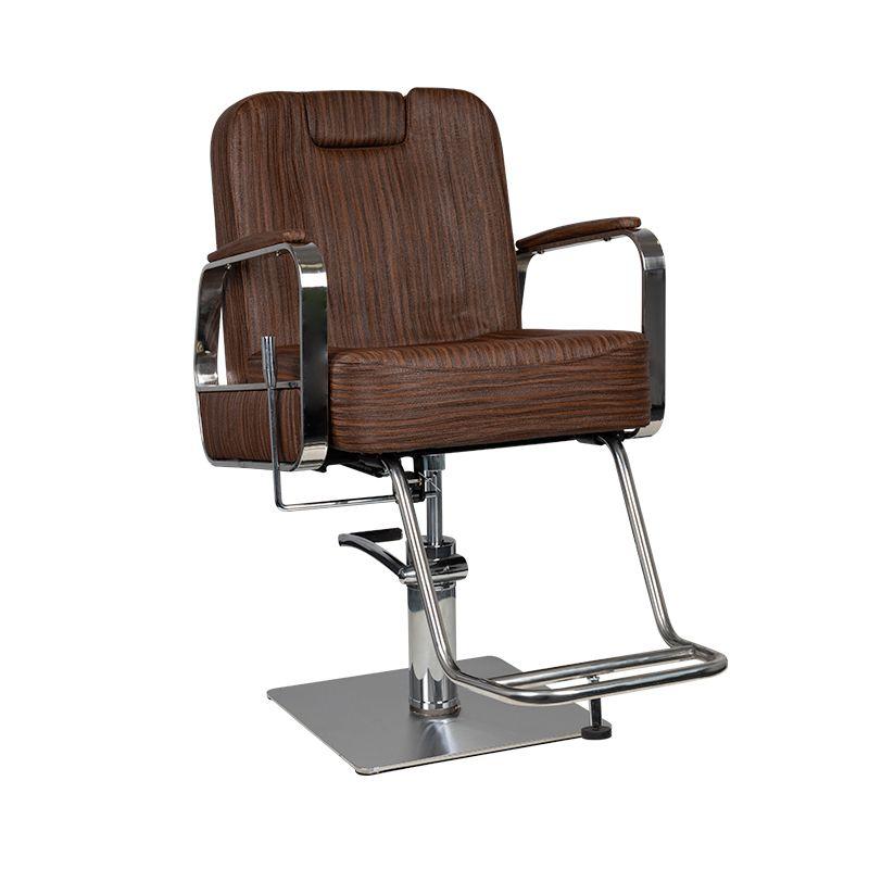 Gabbiano-fotel-barberski-fryzjerski-brąz