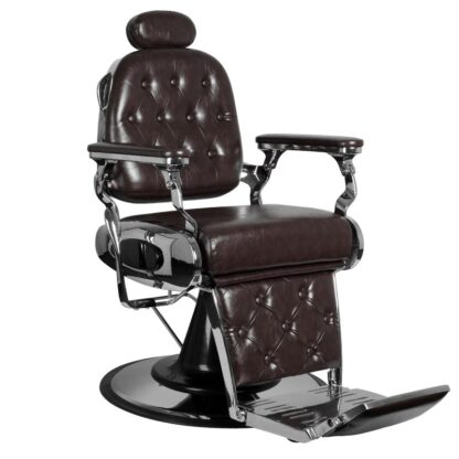 Fotel barberski bordowy Francesco