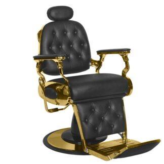 Fotel barberski czarno złoty