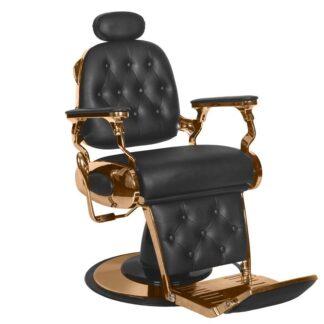 Fotel barberski czarny miedź Francesco