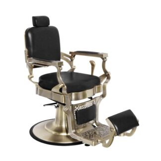 Fotel barberski silver mat