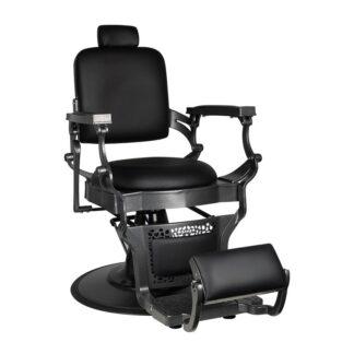 Fotel czarny barberski