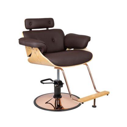 Fotel fryzjerski Florencja brąz