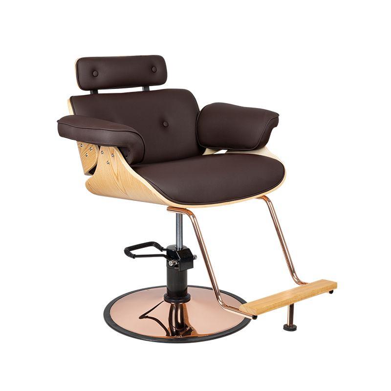 fotel-fryzjerski-Florencja-brąz