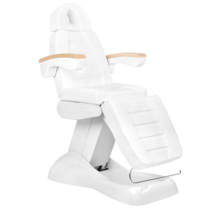 Fotel kosmetyczny biały Lux