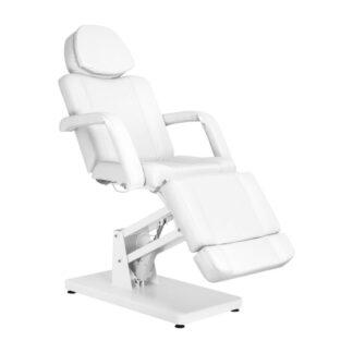 Fotel kosmetyczny elektryczny basic biały