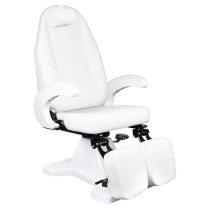 Fotel podologiczny biały hydrauliczny