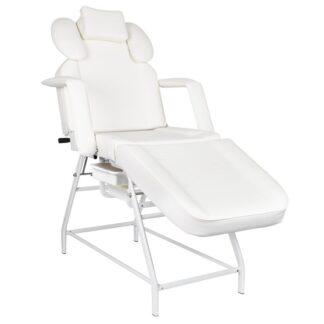 Fotel zabiegowy do rzes ivette bialy