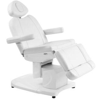 fotel kosmetyczny elektryczny azzurro 708a biały podgrzewany