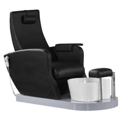 fotel spa pedicure azzurro 016p czarny z pompą
