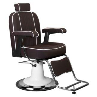 gabbiano fotel barberski amadeo brazowy