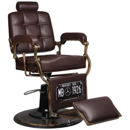 Gabbiano fotel barberski boss brazowy