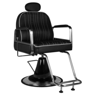 gabbiano fotel barberski luca czarny